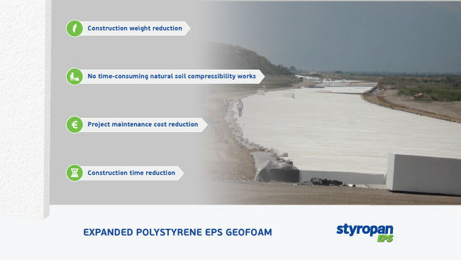 Styropan EPS GEOFOAM road making embankments